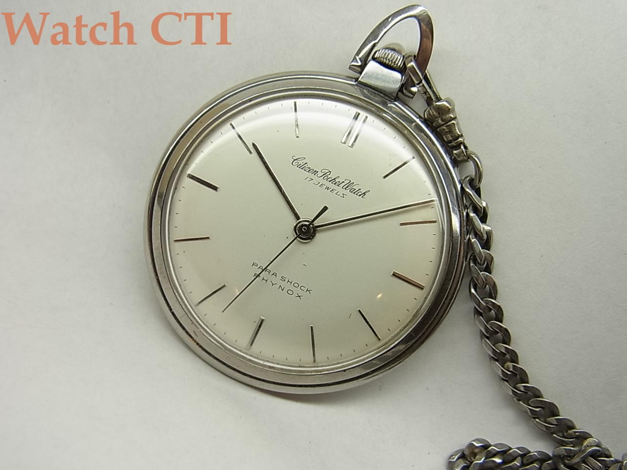 [K2129] シチズン     新本中三針 懐中時計